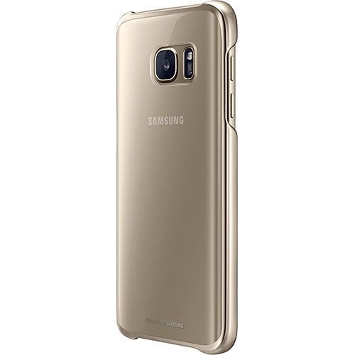 Samsung Galaxy S7 Protective Case - Clear / Gold