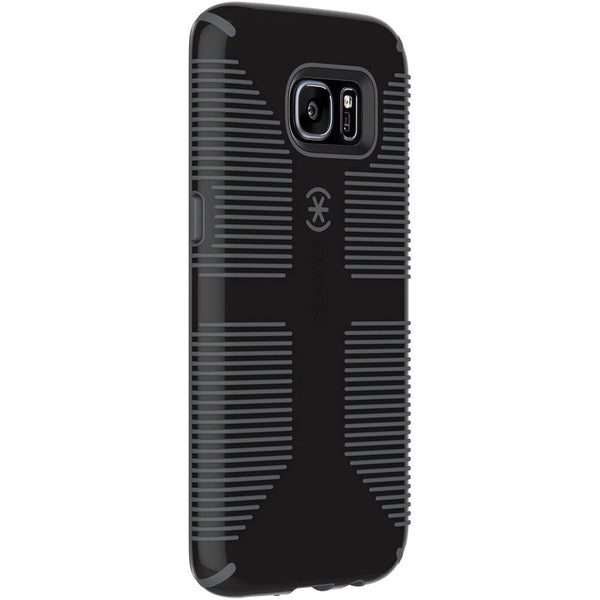 Speck Samsung Galaxy S7 Edge CandyShell Grip Case - Black / Slate Gray