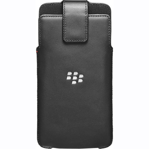 BlackBerry DTEK60 Leather Smart Flip Case - Black