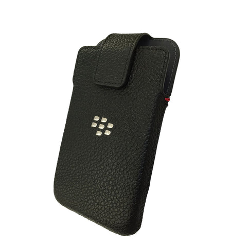 BlackBerry Classic Leather Swivel Holster with Belt Clip - Black