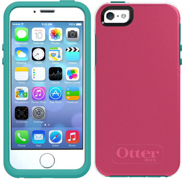 OtterBox Symmetry Series iPhone 5 / 5s Case - Teal Rose