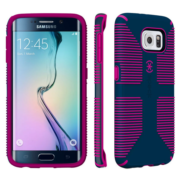 Speck Samsung Galaxy S6 Edge Candyshell Grip Case - Deep Sea Blue / Lipstick Pink