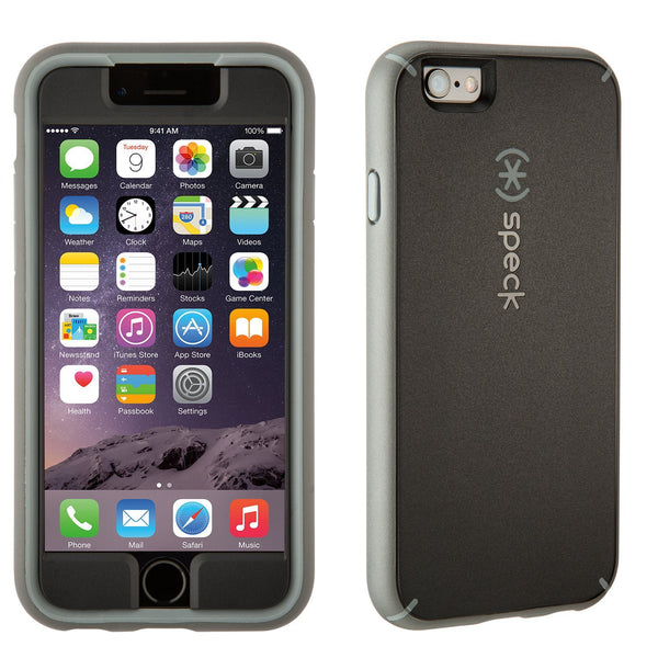 Speck Apple iPhone 6 Mighty Shell with Faceplate Case - Black / Gravel Gray / Slate