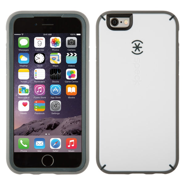 Speck Apple iPhone 6 Mighty Shell Case - White / Charcoal Gray