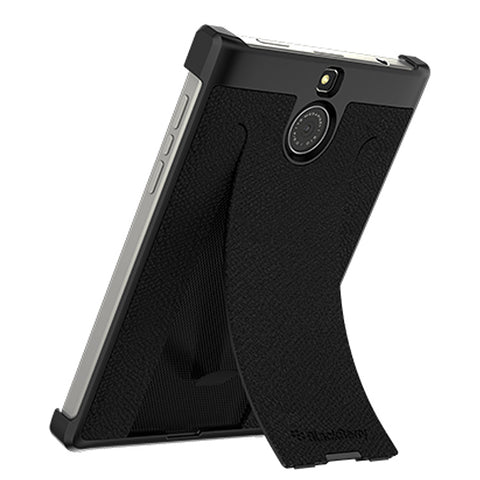 BlackBerry Passport Silver Edition Leather Flex Shell Case - Black