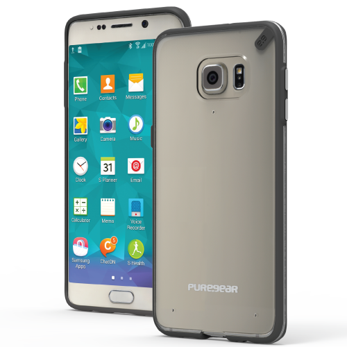 PureGear Samsung Galaxy S6 Edge + Slim Shell Case - Clear / Black