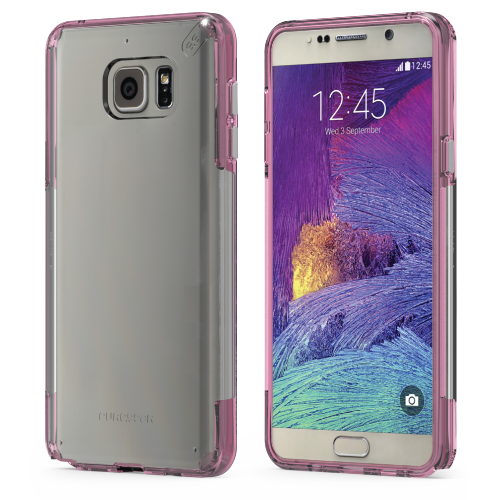 PureGear Samsung Galaxy Note 5 Slim Shell Case - Clear / Pink