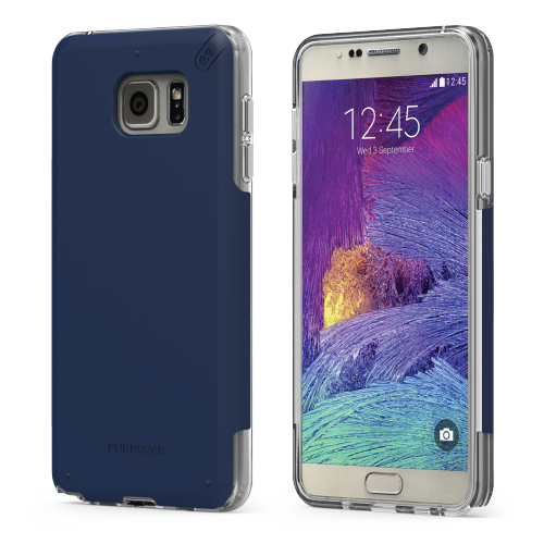 PureGear Samsung Galaxy Note5 DualTek Pro Case - Blue / Clear