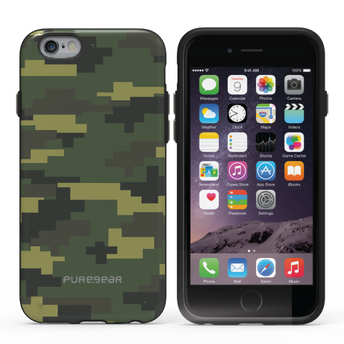 PureGear Apple iPhone 6 Plus / 6s Plus Slim Shell Case - Pattern Print Green Camouflage