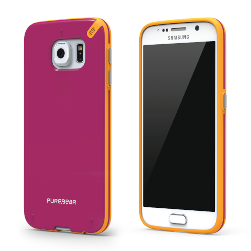 PureGear Samsung Galaxy S6 Slim Shell Case - Sunset Pink