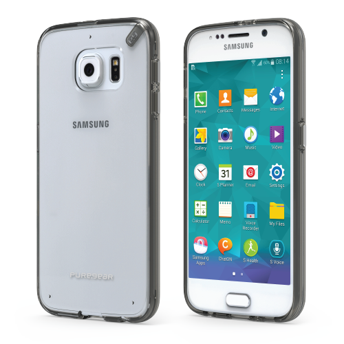 PureGear Samsung Galaxy S6 Slim Shell Pro Case - Clear / Light Gray