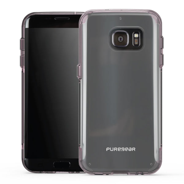 PureGear Samsung Galaxy S7 Edge Slim Shell Pro Case - Clear / Pink