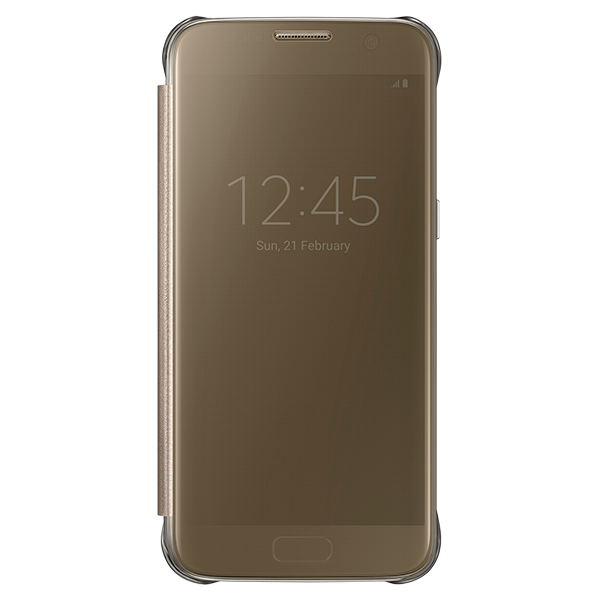Samsung Galaxy S7 S-View Clear Case - Gold