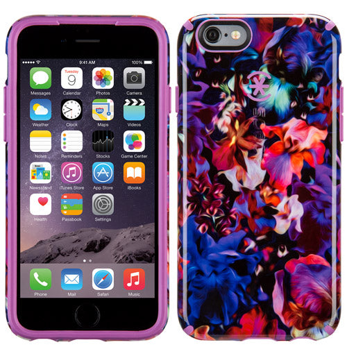 Speck Candyshell Inked Case iPhone 6 / 6s Lush Floral Pattern And Beaming Orchid Purple