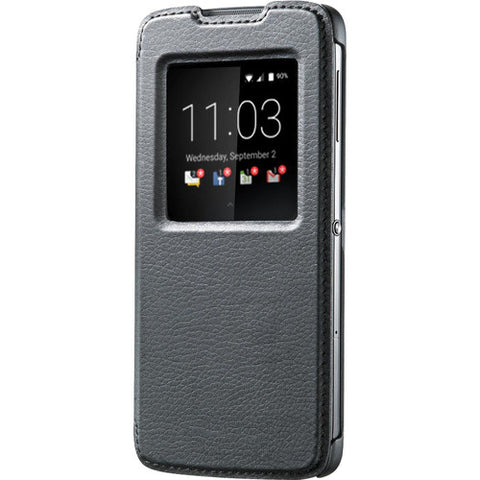 BlackBerry Neon DTEK50 Leather Smart Flip Case - Black
