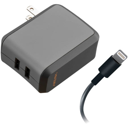 Ventev wallport r2240 Wall Charger Dual 2.4A with Lightning Cable