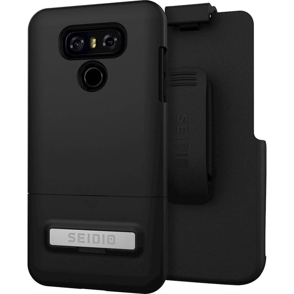 Seidio Surface LG G6 Metal Kickstand And Holster Combo Case - Black