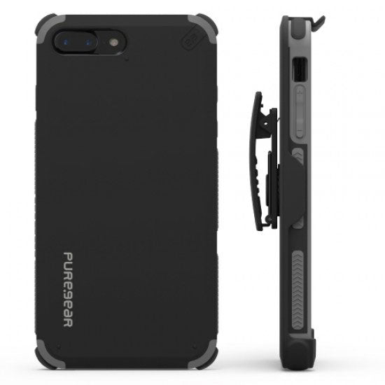 PureGear Apple iPhone 7 Plus DualTek Extreme Shock Hip Case - Arctic Matte Black