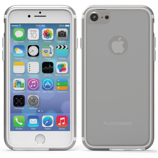 PureGear Apple iPhone 7 GlassBak 360 Series Case - Silver