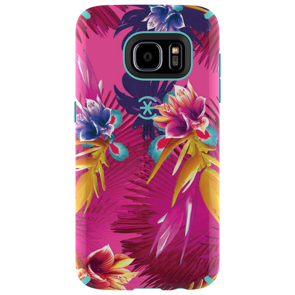 Speck Samsung Galaxy S7 Candyshell Inked Case - Wild Tropic Fuchsia And Mykonos Blue