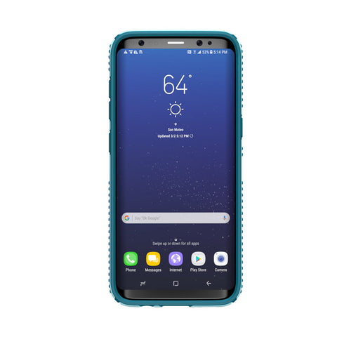 Speck Samsung Galaxy S8 Presidio Grip Case - Robin Egg Blue / Tide Blue