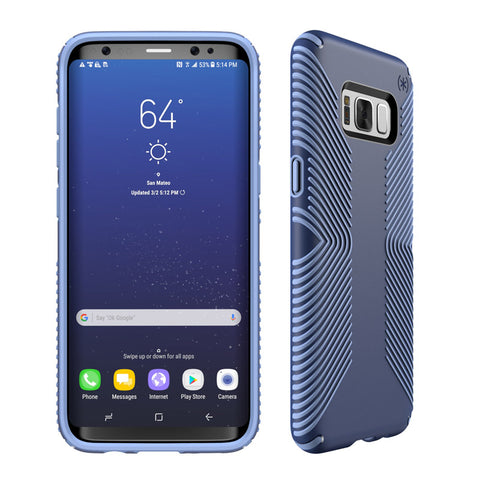 Speck Samsung Galaxy S8+ Presidio Grip Case - Marine Blue / Twilight Blue