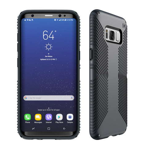 Speck Samsung Galaxy S8+ Presidio Grip Case - Graphite Gray / Charcoal Gray