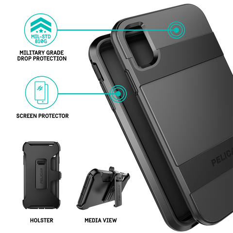 Pelican Voyager Case for Apple iPhone Xs Max - Black