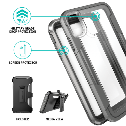 Pelican Voyager Case for Apple iPhone Xs Max - Clear And Grey