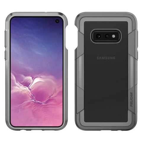 Pelican Voyager Case for Samsung Galaxy S10e - Clear and Gray