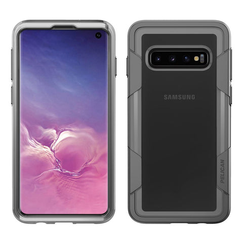 Pelican Voyager Case for Samsung Galaxy S10 - Clear and Gray