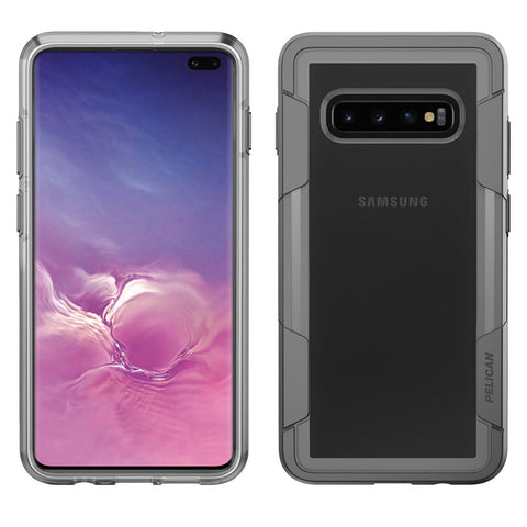 Pelican Voyager Case for Samsung Galaxy S10 Plus - Clear and Gray