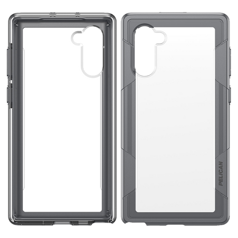 Pelican Voyager Case for Samsung Galaxy Note 10 - Clear and Gray