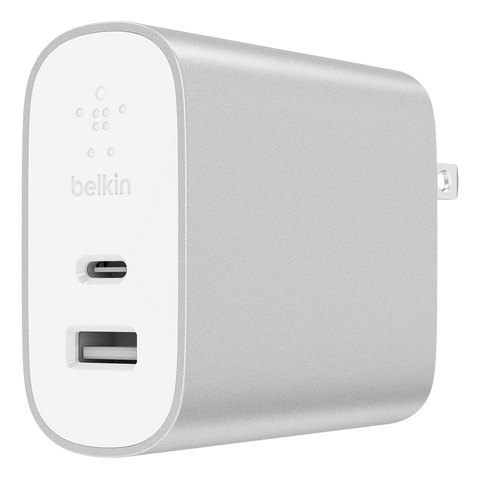 Belkin Power Delivery Home Charger 27W / 12W Universal Type C - White and Silver