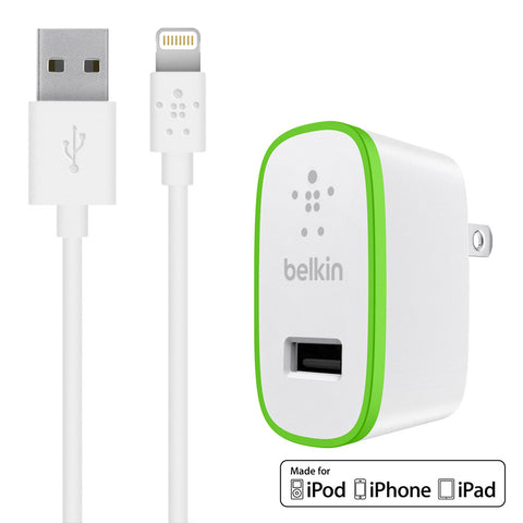 Belkin Boost Up Wall Charger 2.4A for Apple Lightning Devices - White