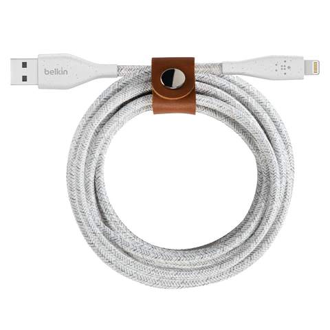 Belkin DuraTek Plus Apple Lightning Cable 4ft - White