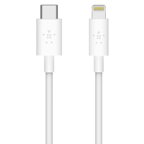 Belkin Boost Up Charge Apple Lightning to USB Type C Cable 4ft - White