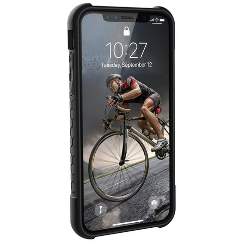 UAG Monarch Case for Apple iPhone Xs / X - Carbon Fiber / Silver