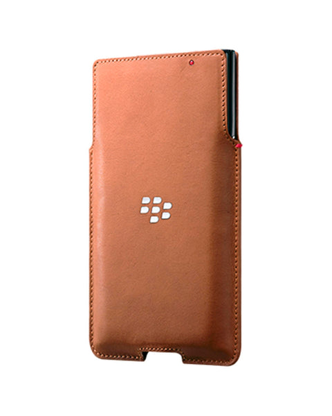 BlackBerry PRIV Leather Pocket Case - Tan