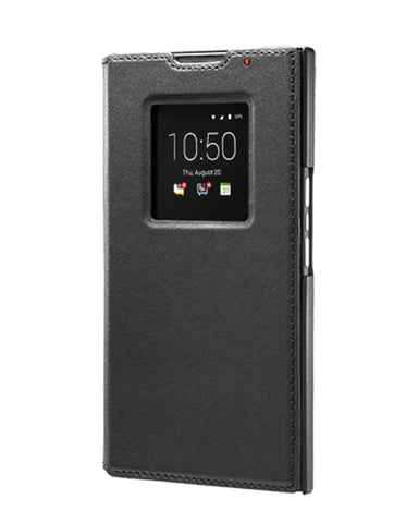 BlackBerry Leather Smart Flip Case for BlackBerry PRIV - Black