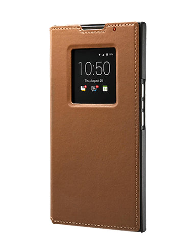 BlackBerry Leather Smart Flip Case for BlackBerry PRIV - Tan