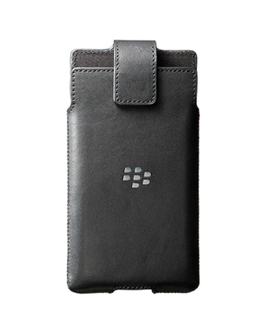 BlackBerry PRIV Leather Holster with Belt Clip - Black