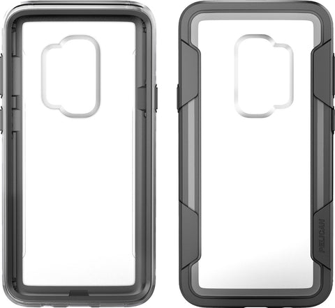 Pelican Voyager Case and Holster for Samsung Galaxy S9+ - Clear/Gray