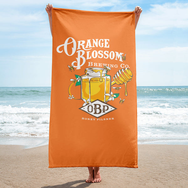 Oversized OBP beach towel