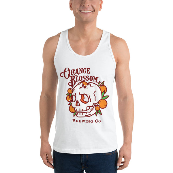 Men's Classic Orange Blossom Skull tank top