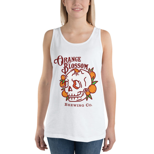 Ladies' Orange Blossom Skull Tank Top