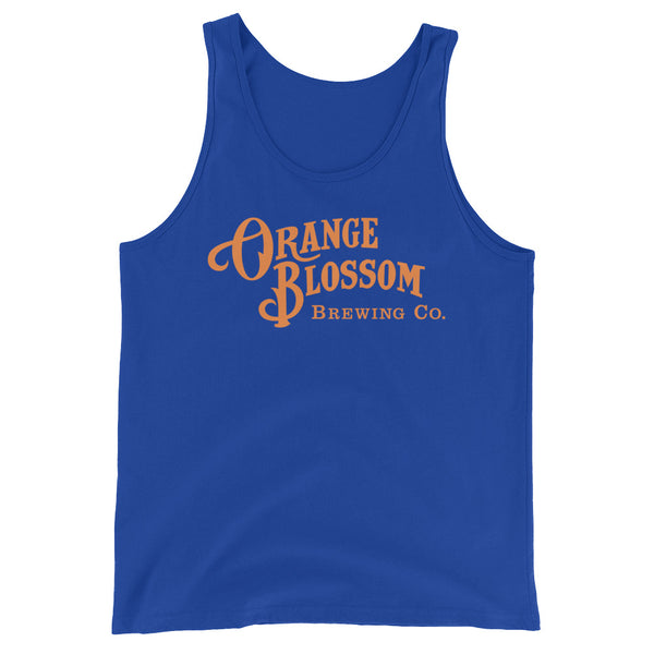 Orange OBBC logo Unisex Tank Top