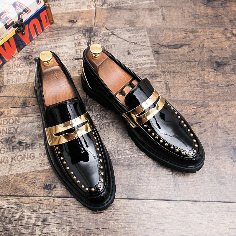 Hair autumn new men's board shoes hundred-hit trend shoes Korean version of men's shoes British casual black leather shoes men's