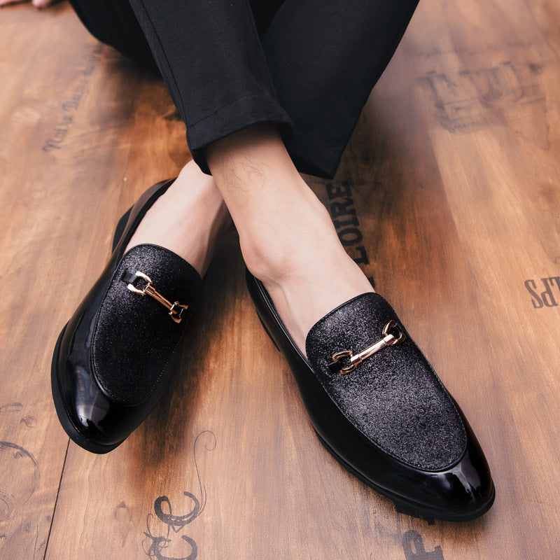 British leisure, all-around trend, young leather shoes, men's Korean version, personalized sequins, nightclubs, hairdressers, leather shoes, men's fashion