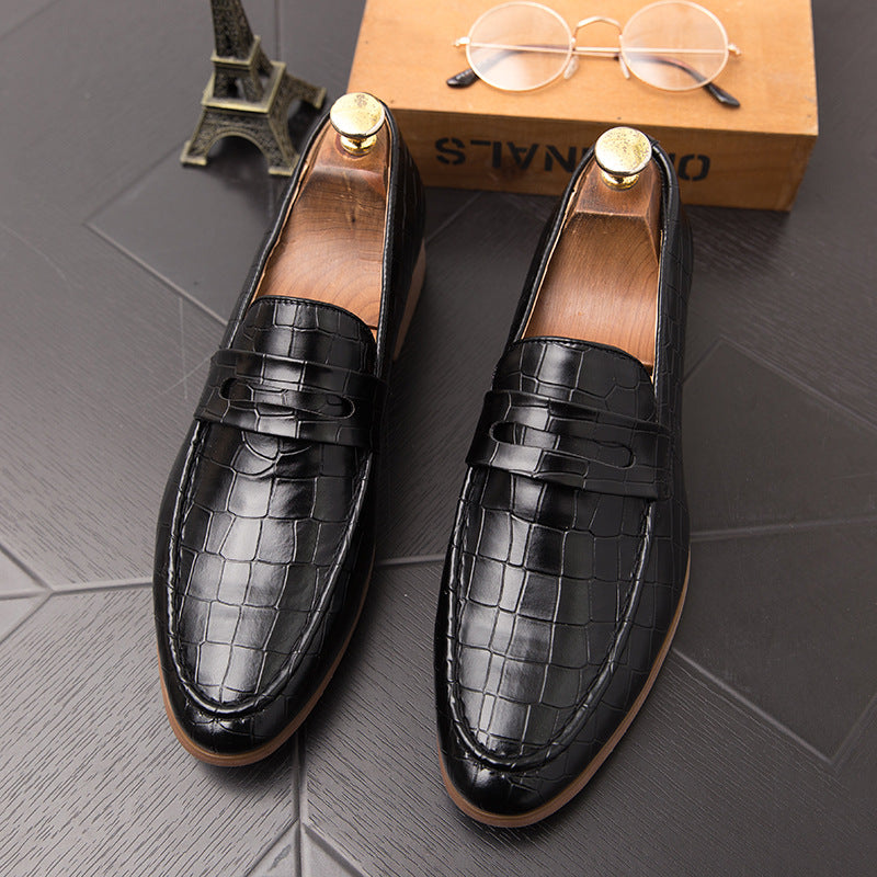 Summer British Korean version of pointed shoes men tassel tide shoes youth business woven pattern leisure Brock shoes men